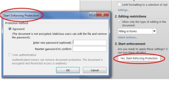 MS Word Enable Protection